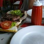 eerste broodje Lomo